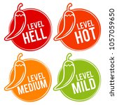 chili peppers scale mild ... | Shutterstock .eps vector #1057059650