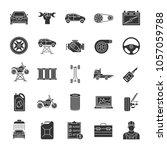 auto workshop glyph icons set.... | Shutterstock . vector #1057059788