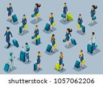isometry of passengers ... | Shutterstock .eps vector #1057062206