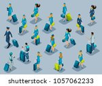 isometry of passengers  flight... | Shutterstock .eps vector #1057062233