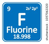 periodic table element fluorine ... | Shutterstock .eps vector #1057062320