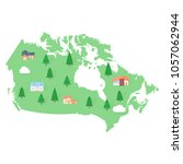 canada america map real estate | Shutterstock .eps vector #1057062944
