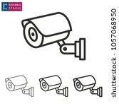 security camera   outline black ... | Shutterstock .eps vector #1057068950