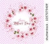 happy mother's day vector card. ... | Shutterstock .eps vector #1057075409