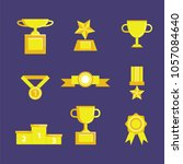 prize and award icon set. stock ... | Shutterstock .eps vector #1057084640