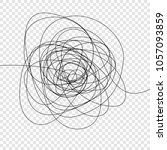 abstract scribble  chaos doodle ... | Shutterstock .eps vector #1057093859