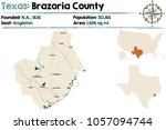 detailed map of brazoria county ... | Shutterstock .eps vector #1057094744