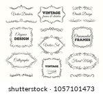 vintage frame set. ornate... | Shutterstock . vector #1057101473