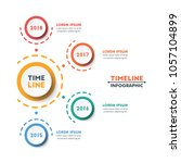 circle timeline infographic... | Shutterstock .eps vector #1057104899