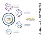circle timeline infographic... | Shutterstock .eps vector #1057104920
