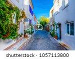bozcaada streets view. bozcaada ... | Shutterstock . vector #1057113800