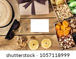 sunglasses  gift  box with... | Shutterstock . vector #1057118999