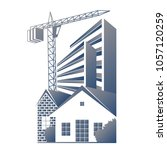 construction and maintenance of ... | Shutterstock .eps vector #1057120259