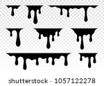 paint dripping. dripping liquid.... | Shutterstock .eps vector #1057122278