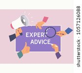 expert advice consulting... | Shutterstock .eps vector #1057126088