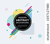modern abstract circle... | Shutterstock .eps vector #1057127480