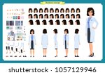 scientist character creation... | Shutterstock .eps vector #1057129946