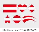 austrian flag. vector flag of... | Shutterstock .eps vector #1057130579