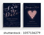 wedding invitation card set.... | Shutterstock .eps vector #1057136279