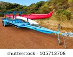outrigger racing canoe and... | Shutterstock . vector #105713708