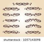 set of decorative elements.... | Shutterstock .eps vector #1057143098