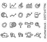 data analytics icon set | Shutterstock .eps vector #1057147796