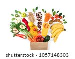healthy food background.... | Shutterstock . vector #1057148303