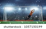 soccer game moment  on... | Shutterstock . vector #1057150199