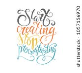 start creating stop... | Shutterstock .eps vector #1057156970