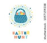 vector easter greeting card... | Shutterstock .eps vector #1057159238