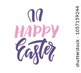 vector set of  hand written... | Shutterstock .eps vector #1057159244