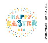 vector easter greeting card... | Shutterstock .eps vector #1057159418
