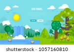 vector illustration of eco... | Shutterstock .eps vector #1057160810
