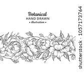 floral seamless vintage border. ...   Shutterstock .eps vector #1057173764
