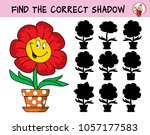 funny smiling flower in a... | Shutterstock .eps vector #1057177583