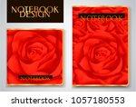 cover designi of notebook ... | Shutterstock .eps vector #1057180553
