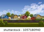 russian village spring... | Shutterstock .eps vector #1057180940