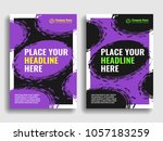 collection of covers with brush ... | Shutterstock .eps vector #1057183259