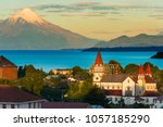puerto varas at the shores of... | Shutterstock . vector #1057185290