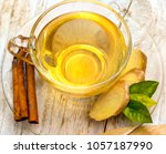 tea with spices indicating... | Shutterstock . vector #1057187990