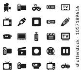 flat vector icon set   cinema... | Shutterstock .eps vector #1057189616