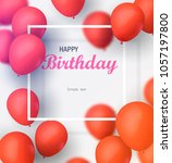 greeting card with frame and... | Shutterstock .eps vector #1057197800