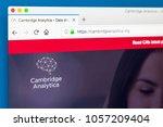 london  uk   march 29th 2018 ... | Shutterstock . vector #1057209404