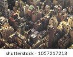 manhattan midtown buildings top ...   Shutterstock . vector #1057217213