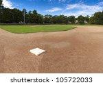 Panorama Of A Baseball Field.