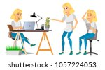 business woman character vector.... | Shutterstock .eps vector #1057224053