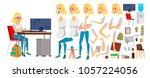 business woman character vector.... | Shutterstock .eps vector #1057224056