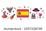 spain banner design elements.... | Shutterstock .eps vector #1057228730