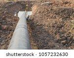 construction of oil pipeline... | Shutterstock . vector #1057232630