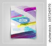 colorful cover design. eps10... | Shutterstock .eps vector #1057240970
